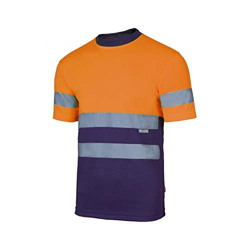 Velilla Camiseta Manga Corta Bicolor de Alta Visibilidad y C