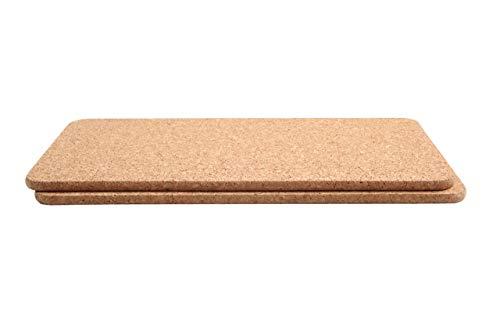 T&G Woodware 2 x Rechteckige Topfuntersetzer aus Natur Kork.40x20cm