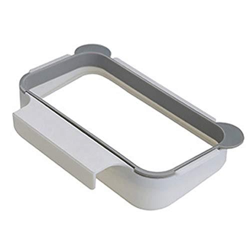 Armario de cocina colgante sólido Puerta de armario Soporte trasero Estante de basura Cubo de almacenamiento Bolsas de basura Colgantes