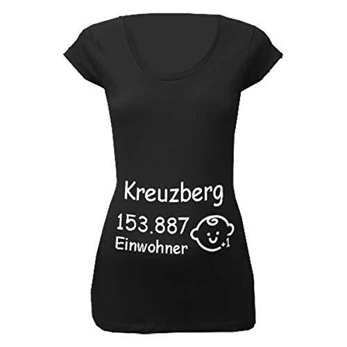 Kreuzberg Einwohner + 1 T-Shirt für Schwangere Frauen schwarz 40