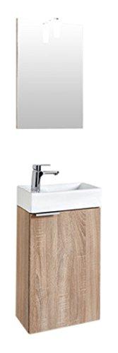 Homexperts GIZO Gastebad Set, Holzwerkstoff, Melamin Sonoma Eiche, 41 x 25 x 128 cm