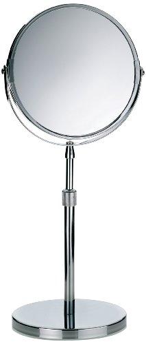 Kela 20846 Standspiegel, 1-/5-fach Vergrößerung, Ø 17cm, Metall, Silvana, Verchromt