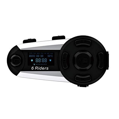 Tuo3eu T20s Motorradhelm Intercom 1200 Meter Vollduplex Bluetooth Intercom Motorradhelm Bluetooth-Gegensprechanlage Wasserdichtes Headset mit LCD-Bildschirm/Maximale Gesprächszeit 12h