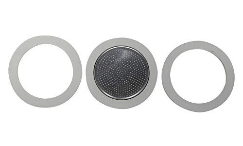 Bialetti - Moka Induktion 3 Tasse 3 Dichtung und Filterplatte