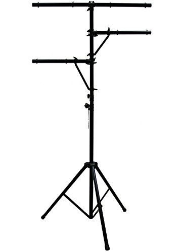 ASC Pro Audio Mobile DJ Light Stand Multi Arm Lighting T Bar Portable Tripod up to 12 Foot Height