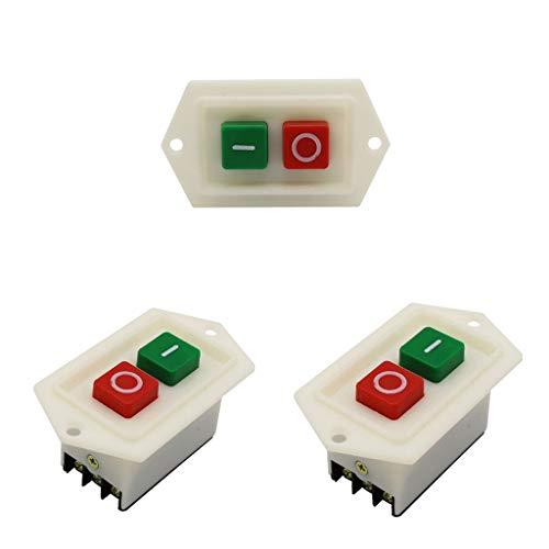 yotijar Interruptor de Presión de Taladro de 3 Piezas Interruptor de Botón de Inicio LC310 AC 10A