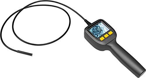 Somikon Stabkamera mit Licht: Endoskop-Kamera mit Farb-LCD-Display, LED-Licht, Batteriebetrieb, IP67 (Kanalkamera)
