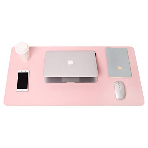 Writing Desk Pad Protector, YSAGi Anti-Slip Thin Mousepad for Computers,Office Desk Accessories Laptop Waterproof Desk Protector for Office Decor and Home (Pink, 31.5' x 15.7')