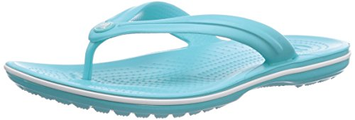 Crocs Crocband Flip, Chanclas Unisex Adulto, Azul (Pool/White), 39/40 EU