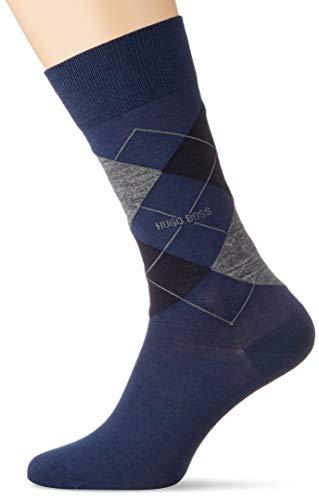 BOSS Herren John RS Argyle WO Klassische Socken, Dark Blue402, 39-42