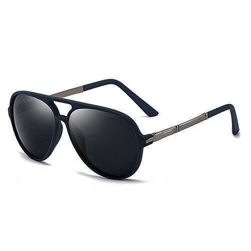 ZLININ Y-longhair - Gafas de sol polarizadas para hombre, diseño clásico, con protección UV, color 03 negro, talla: gratis (color: 04 negro)