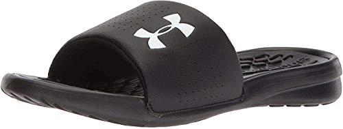 Under Armour Herren Men's Playmaker Fix Sl Beach & Pool Shoes Dusch- & Badeschuhe, Schwarz (Black 3000061-001), 41 EU
