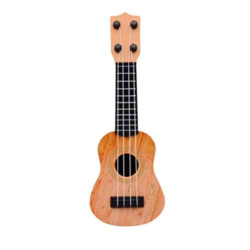 STRIR Ukulele Modell Kinder Spielzeug Kleine Hawaii Gitarre Musikaufklärung Musikinstrument Gitarre Spielzeug Mini Viersaitige Gitarre ukulele gurt tasche (B)