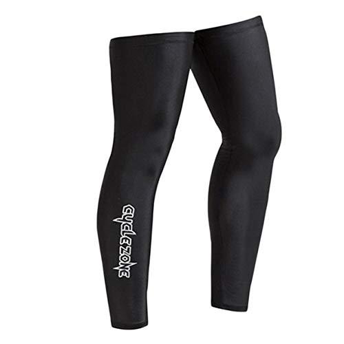 JIAJU Protección UV al Aire Libre Cubierta de Pierna Bicicleta Ciclismo Manga de Brazo para Montar en Bicicleta Hombres Mujeres Correr Fitness Brazo Calentador de piernas - Negro - XL