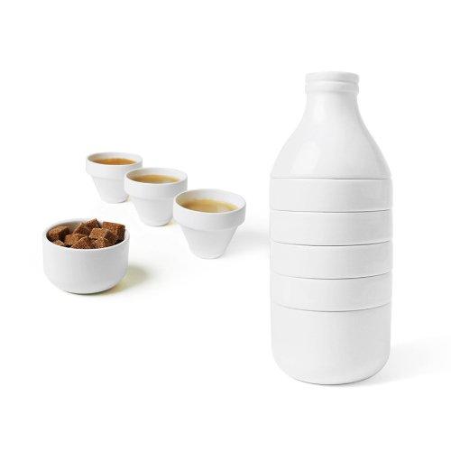 Doiy Servicio de té/café, Porcelana, Blanco, 9.5 cm