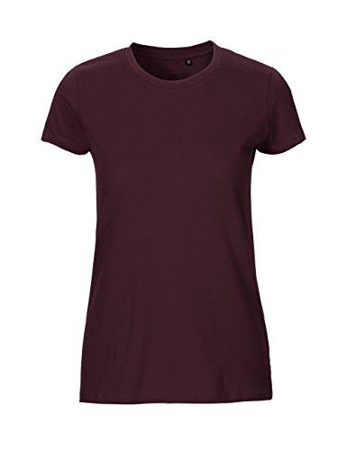 Green Cat Ladies Fitted T-Shirt, 100% Bio-Baumwolle. Fairtrade, Oeko-Tex und Ecolabel Zertifiziert, Textilfarbe: Bordeaux, Gr.: M