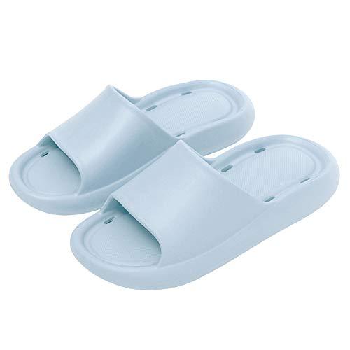 Vertvie Chanclas y Sandalias de Piscina para Mujer Verano Antideslizante Zapatillas Casa Hombre Pantuflas de baño(Azul,36-37)