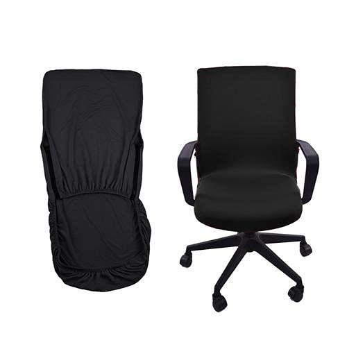 HIFONI Housse de Chaise de Bureau Monobloc Chaise pivotante Protecteur de Fauteuil d'ordinateur Chaise de Bureau/Chaise Patron/Chaise pivotante/Housse de Chaise de Direction (M)