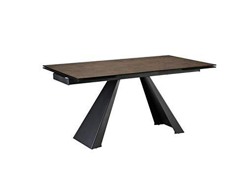 SCHULLER - Mesa de Comedor Moderna - Alai Marron Extensible (160x90x77)