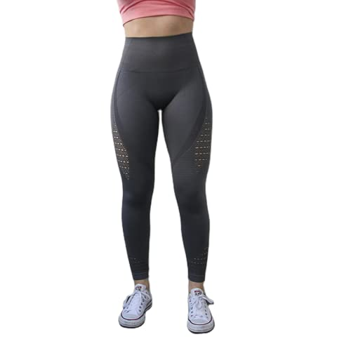 QTJY Señoras Energy Seamless Abdomen Yoga Pantalones Super Stretch Fitness Jogging Medias Cintura Alta Caderas Pantalones Deportivos para Correr C XL