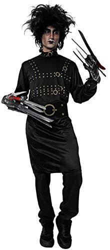 Gojoy shop- Disfraz de Manostijera para Hombres y Mujeres Halloween Canaval (2 Modelos: Contiene Vestido o Camiseta, Cinturón y Collar, Talla Unica) (Camiseta, Cinturon y Collar)
