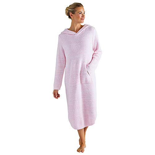 Softies Ultra Soft Marshmallow Hooded Lounger (Pink, S/M)
