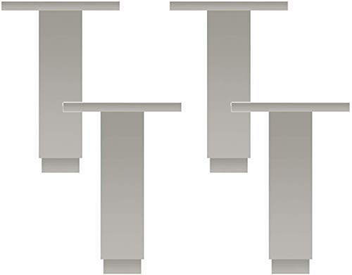 Yubingqin Piernas de metal para muebles, patas de metal, cuadradas, resistentes, de aleación de aluminio, de 0,6 cm, altura ajustable de 500 kg por cuatro, juego de 4 (tamaño: 15 cm)