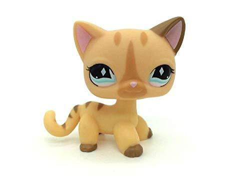 WOOMAX Littlest Pet Shop LPS Spielzeug Seltene Kurze Haare Stehen Katze # 886 Creme Diamantstreifen Beste Geburtstagsgeschenk