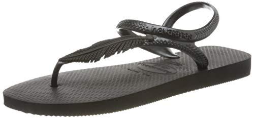 Havaianas Flash Urban Plus, Sandali con Cinturino alla Caviglia Donna, Nero (Black 0090), 37/38 EU