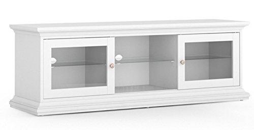 Dynamic24 Paris TV HiFi Tisch Board Lowboard Phono Schrank Kommode weiß Landhaus