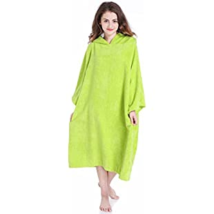 Winthome Soft Microfiber Changing Towel With Hood,Terry Changing Rob for Men (Green):Carsblog