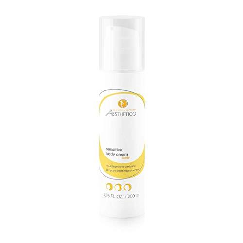 AESTHETICO sensitive body cream - Schützende Körperlotion für trockene Haut/Neurodermitis, ahmt das natürliche Sebum der Haut nach, parfümfrei, 200 ml