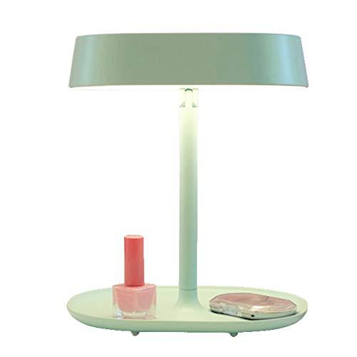 Miroir de maquillage LHY LED Lampe de Table Princesse Portable Pliante Table Lampe Miroir de Table La Mode (Color : Green)
