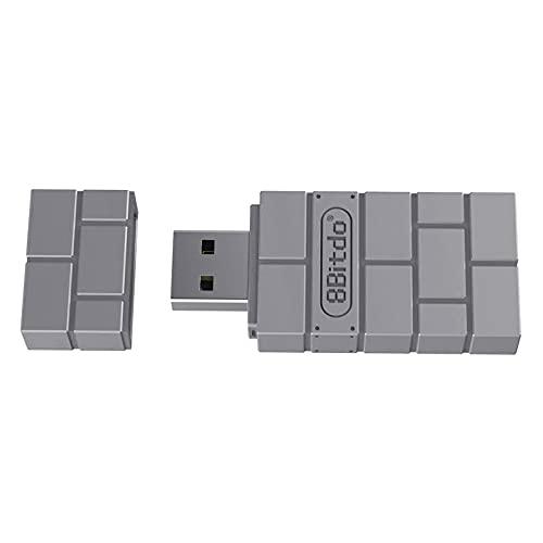 B Blesiya Adaptador de Receptor Inalámbrico USB para Switch Controller, para Usar con PS5 / 4/3, para Wii Mote, para Wii U Pro de Forma Inalámbrica para Switch. - Gris
