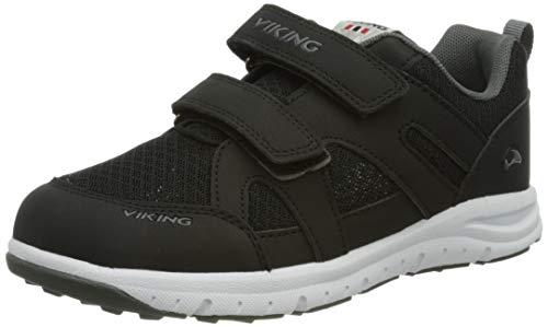 viking Unisex Kinder Odda Walking-Schuh, Black/Charcoal,34 EU