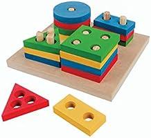 Carlu Brinquedos - Prancha de Seleção Pequena Jogo Educativo, 3+ Anos, 16 Peças