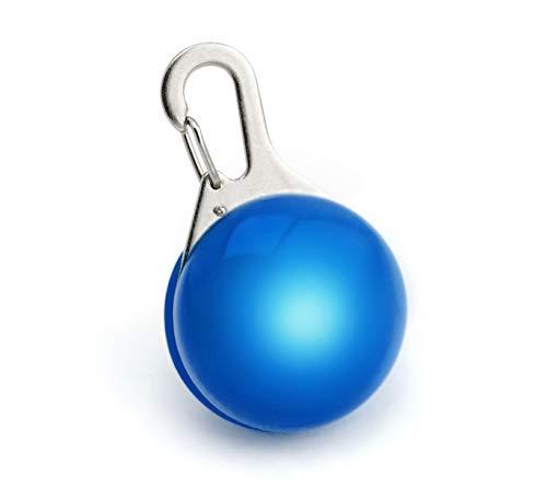 Ciondolo luminoso LED batterie incluse per cane gatto animale domestico Lampadina luminosa LED da appendere al collare di colore blu New Marchio PRECORN