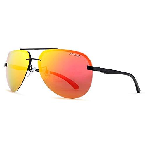 MXBIN Pesca KD143 Metal Gafas de Sol polarizadas de los Hombres Bicicleta...