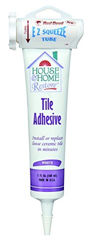 Red Devil 0498 House & Home Restore Tile Adhesive EZ Squeeze Tube, 5 Fl. Oz, 1-Pack, White