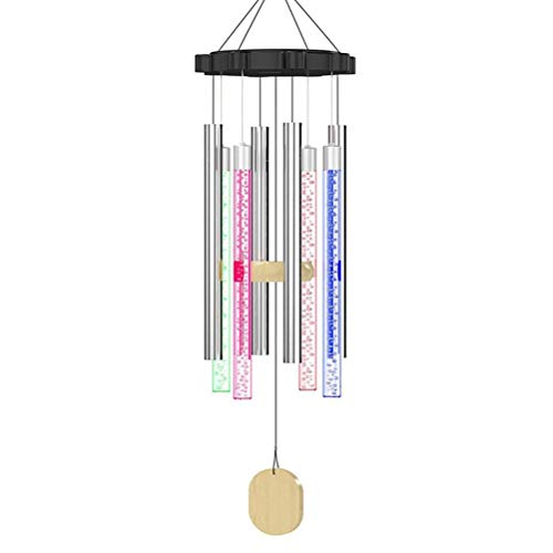 Solar Wind Chimes Outdoor,8 Aluminum Alloy Tubes Wind Chimes For Garden Patio Backyard Home Decor