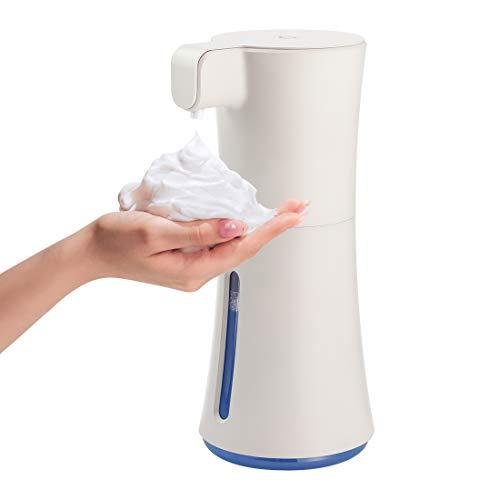 GENNISSY 450ml Automatic Foaming Soap Dispenser Infrared Motion Sensor Countertop Soap Dispenser Touchless Dish Soap Dispenser for Bathroom Kitchen Office Hotel
