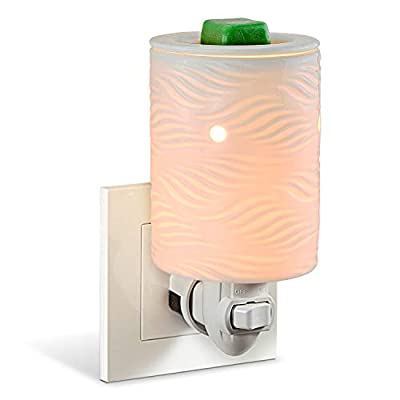 StarMoon Wax Warmer Plug in for Home Décor, Pluggable Home Fragrance Diffuser, No Flame, Removable Dish, with One More Bulb (Willow)