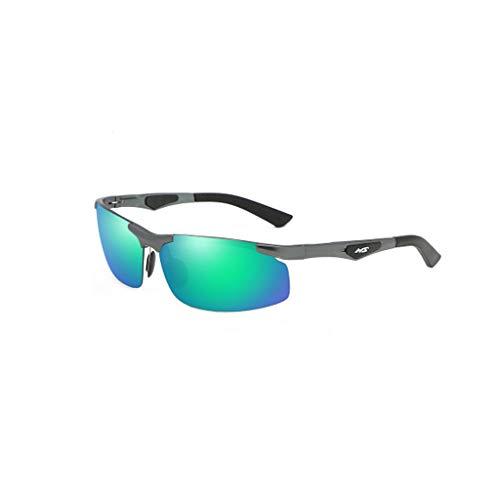 LLKK Gafas de Sol,Gafas de Sol polarizadas con magnesio Tendencia de Moda de Medio Cuadro para Hombres Gafas de conducción para Conductores