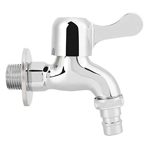 nobrands Grifo de Agua G1/2in Montado en la Pared Lavadero Baño Lavadora Grifo de Agua Grifo de Agua fría Individual