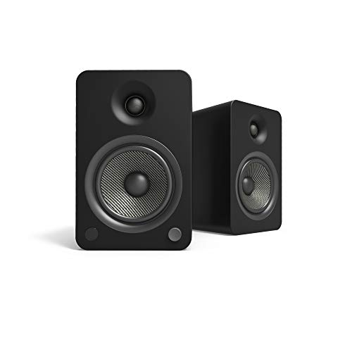 Kanto YU6 Powered Speakers with Bluetooth and Phono Preamp, Matte Black