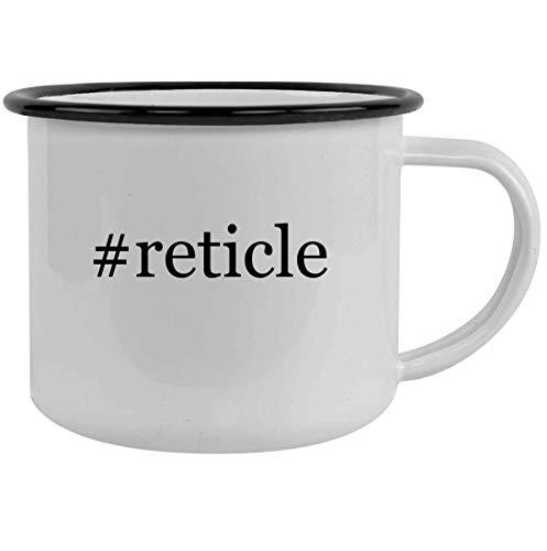 #reticle - 12oz Hashtag Stainless Steel Camping Mug, Black