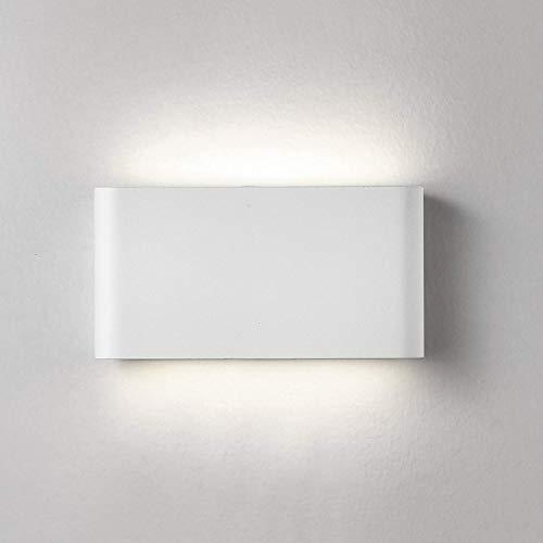XIAJIA-12W LED Apliques de Pared Lamparas de Pared impermeable IP65 con Luz Universal para Decoración de Casa Jardín de Lluminación de Exterior y Lluminación de Interior (Blanco/Blanco frío)