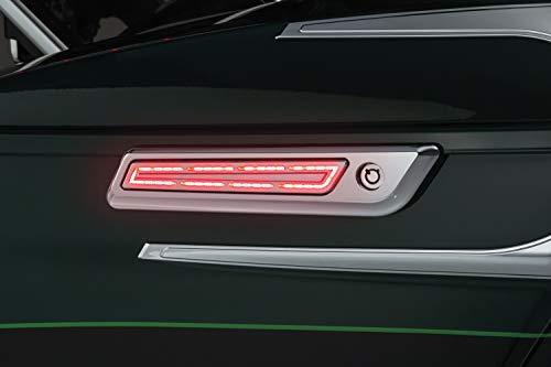 Kuryakyn 5476 Motorcycle Lighting Accessory: LED Saddlebag Hinge Accents for 2014-19 Harley-Davidson Touring Motorcycles, Chrome, 1 Pair