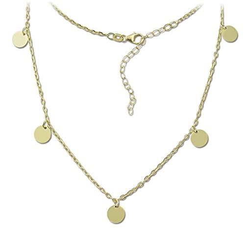 SilberDream Orient SDK29538Y - Collar de plata 925 (38 cm), color dorado