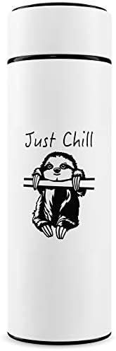 Sloth Gift Bottle 16 oz With Tea Strainer Double Wall Vacuum Sealed Tumbler Coffee Mug Matte product image